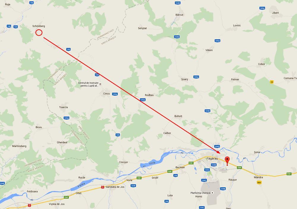 Geografischer Mittelpunkt Rumänien