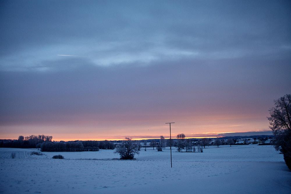 Sonnenaufgang über Moorenweis