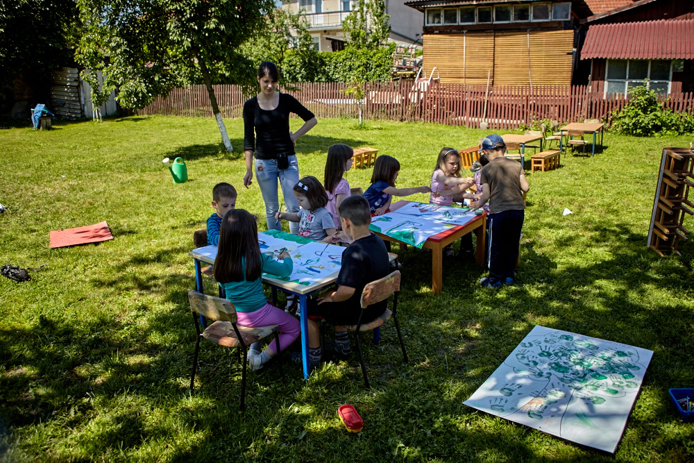 Malgruppe im Kindergarten