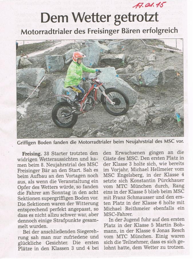 Pressebericht Neujahrstrial