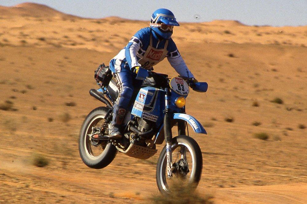 XT500 unterwegs nach Dakar